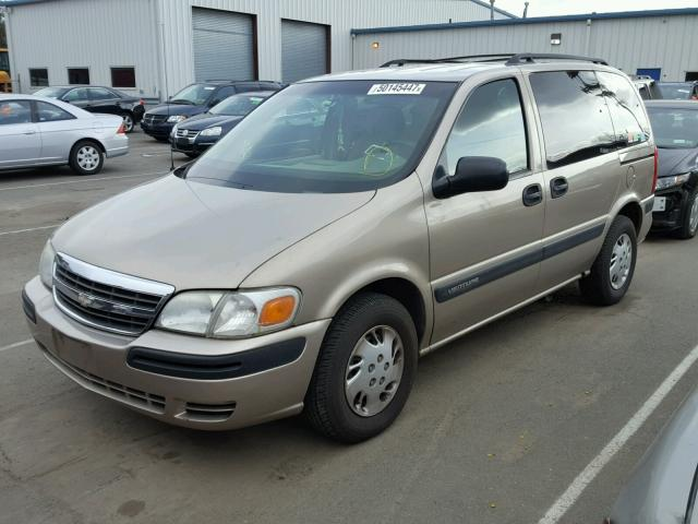 1GNDU03E82D232037 - 2002 CHEVROLET VENTURE TAN photo 2