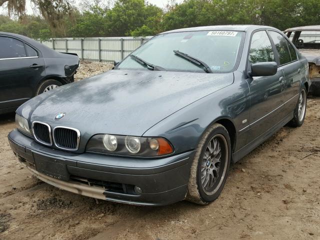WBADT634X3CK31899 - 2003 BMW 530 I AUTO BLUE photo 2
