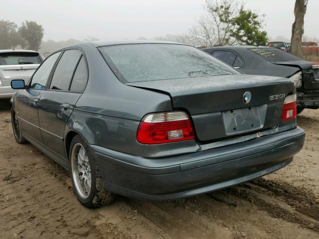WBADT634X3CK31899 - 2003 BMW 530 I AUTO BLUE photo 3