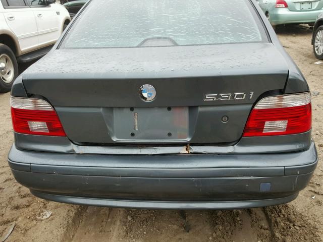 WBADT634X3CK31899 - 2003 BMW 530 I AUTO BLUE photo 9
