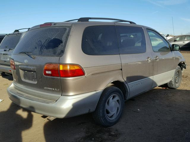 4T3ZF13C7WU050271 - 1998 TOYOTA SIENNA LE GOLD photo 4