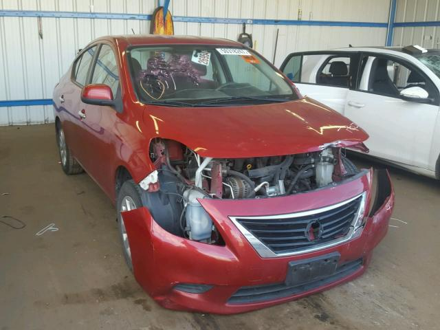 3N1CN7APXCL858783 - 2012 NISSAN VERSA S RED photo 1