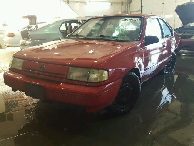 1FAPP31X0RK139723 - 1994 FORD TEMPO GL RED photo 2