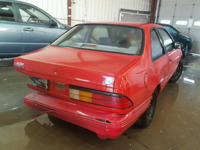 1FAPP31X0RK139723 - 1994 FORD TEMPO GL RED photo 4