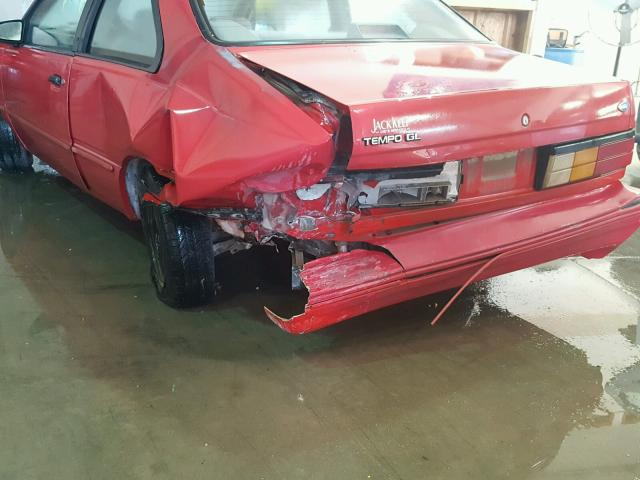 1FAPP31X0RK139723 - 1994 FORD TEMPO GL RED photo 9