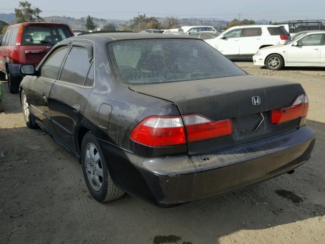 1HGCG65842A144644 - 2002 HONDA ACCORD EX BLACK photo 3