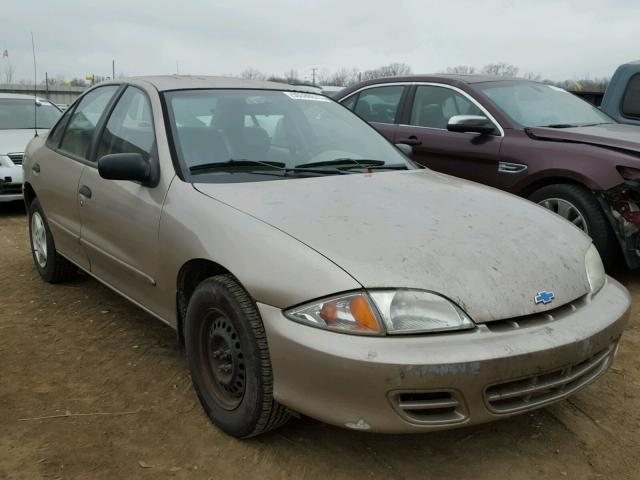 1G1JC524017273658 - 2001 CHEVROLET CAVALIER B TAN photo 1