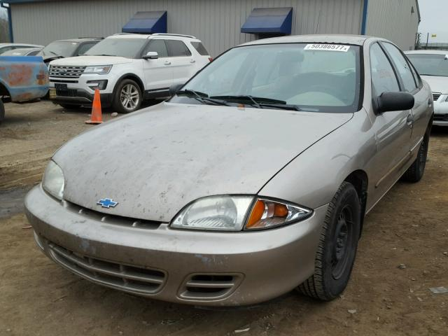 1G1JC524017273658 - 2001 CHEVROLET CAVALIER B TAN photo 2