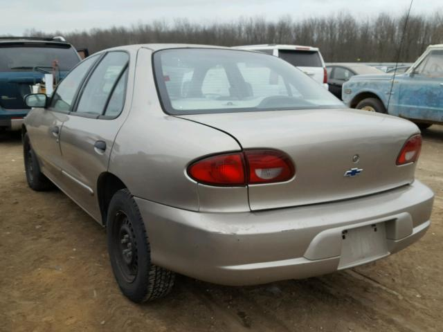 1G1JC524017273658 - 2001 CHEVROLET CAVALIER B TAN photo 3