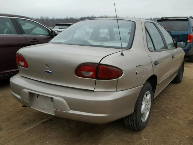 1G1JC524017273658 - 2001 CHEVROLET CAVALIER B TAN photo 4