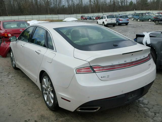 3LN6L2LU3FR600334 - 2015 LINCOLN MKZ HYBRID WHITE photo 3