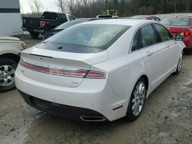 3LN6L2LU3FR600334 - 2015 LINCOLN MKZ HYBRID WHITE photo 4