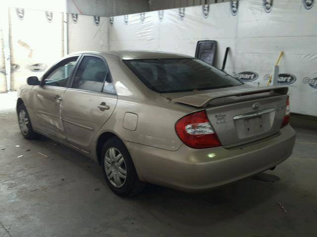 4T1BE32K43U675045 - 2003 TOYOTA CAMRY LE GOLD photo 3