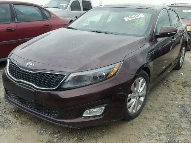 5XXGN4A70FG466604 - 2015 KIA OPTIMA EX BURGUNDY photo 2
