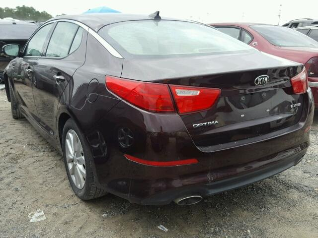 5XXGN4A70FG466604 - 2015 KIA OPTIMA EX BURGUNDY photo 3