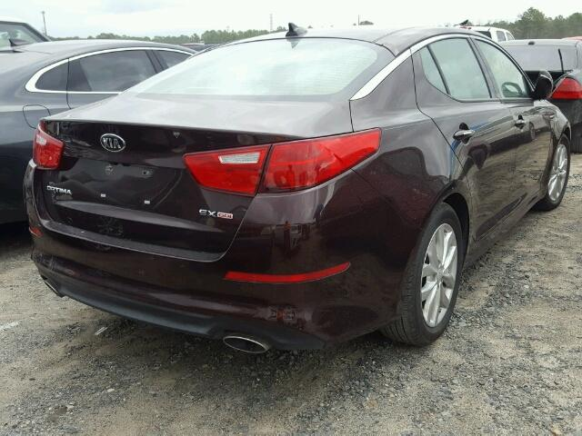 5XXGN4A70FG466604 - 2015 KIA OPTIMA EX BURGUNDY photo 4