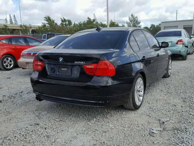 WBAPH7C59BE460557 - 2011 BMW 328 I BLACK photo 4