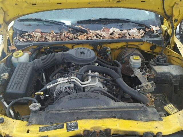 1B7GG22YXXS229342 - 1999 DODGE DAKOTA YELLOW photo 7