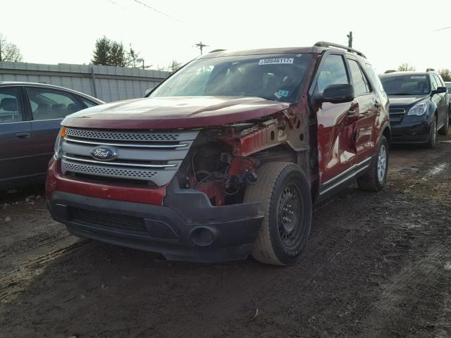 1FM5K7B8XDGA10233 - 2013 FORD EXPLORER MAROON photo 1