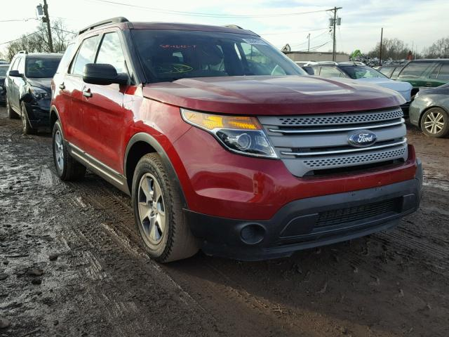 1FM5K7B8XDGA10233 - 2013 FORD EXPLORER MAROON photo 2