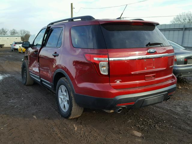 1FM5K7B8XDGA10233 - 2013 FORD EXPLORER MAROON photo 3