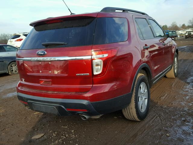 1FM5K7B8XDGA10233 - 2013 FORD EXPLORER MAROON photo 4
