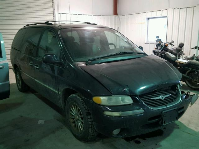 1C4GP64L5YB564681 - 2000 CHRYSLER TOWN & COU BLUE photo 1