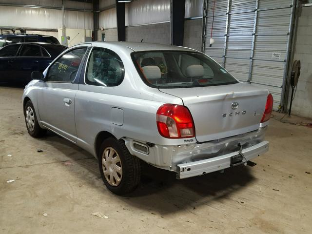 JTDAT123820254437 - 2002 TOYOTA ECHO SILVER photo 3