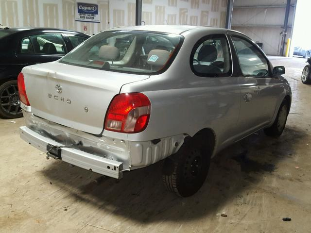 JTDAT123820254437 - 2002 TOYOTA ECHO SILVER photo 4