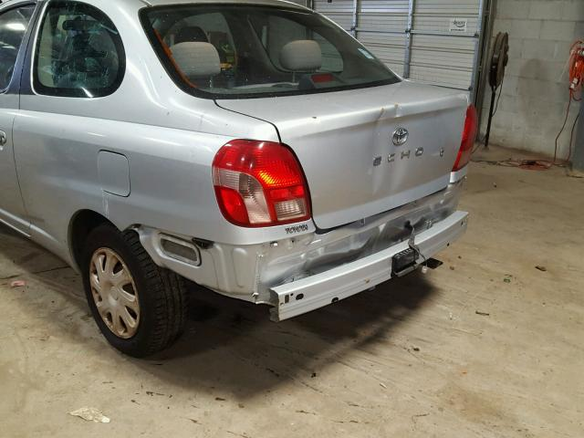 JTDAT123820254437 - 2002 TOYOTA ECHO SILVER photo 9