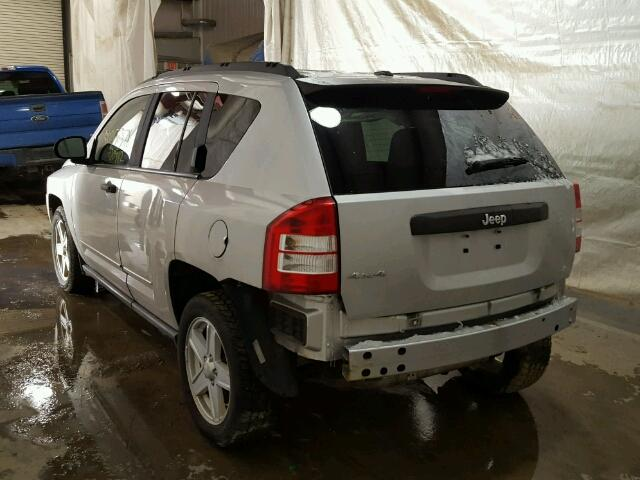 1J4FF47B19D219458 - 2009 JEEP COMPASS SP SILVER photo 3