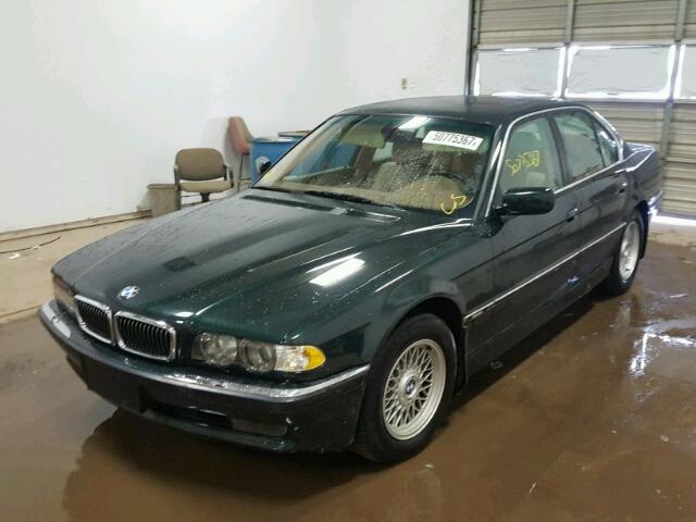 WBAGG83481DN83903 - 2001 BMW 740 I AUTO GREEN photo 2