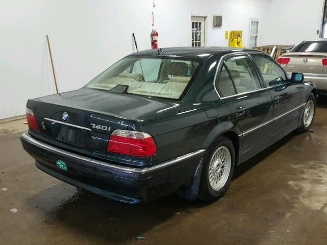 WBAGG83481DN83903 - 2001 BMW 740 I AUTO GREEN photo 4