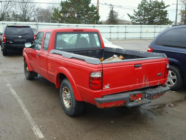 1FTYR14E11PA88957 - 2001 FORD RANGER SUP RED photo 3