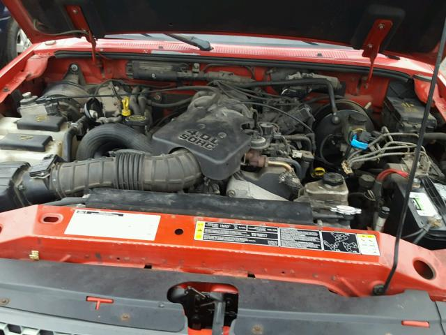 1FTYR14E11PA88957 - 2001 FORD RANGER SUP RED photo 7