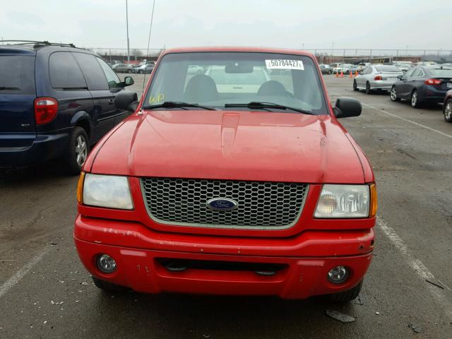 1FTYR14E11PA88957 - 2001 FORD RANGER SUP RED photo 9