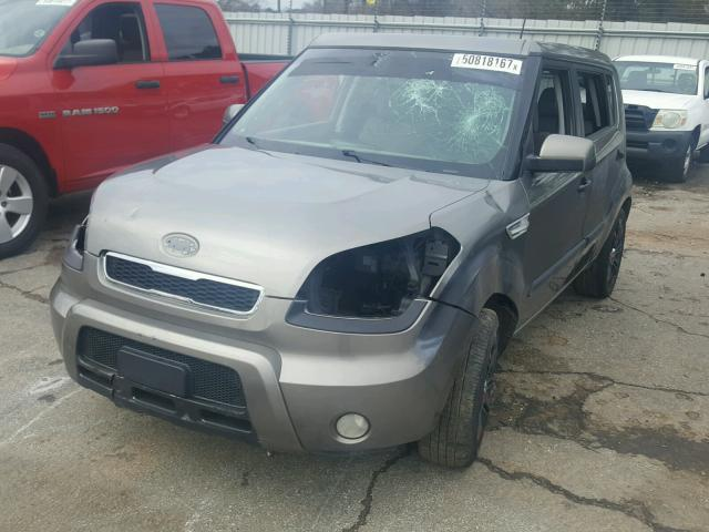 KNDJT2A2XB7243655 - 2011 KIA SOUL + GRAY photo 2