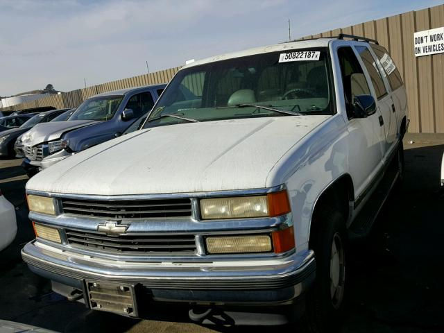 1GNFK16R1VJ311655 - 1997 CHEVROLET SUBURBAN K WHITE photo 2