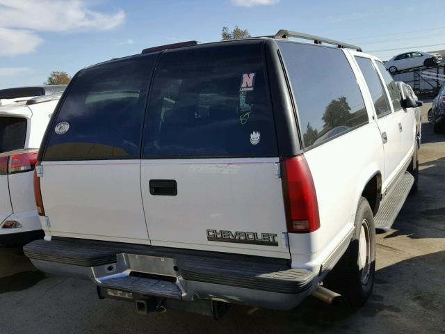 1GNFK16R1VJ311655 - 1997 CHEVROLET SUBURBAN K WHITE photo 4