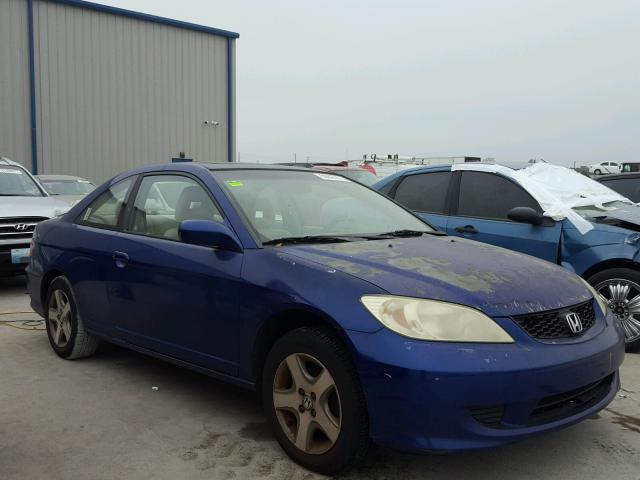 1HGEM22944L077560 - 2004 HONDA CIVIC EX BLUE photo 1