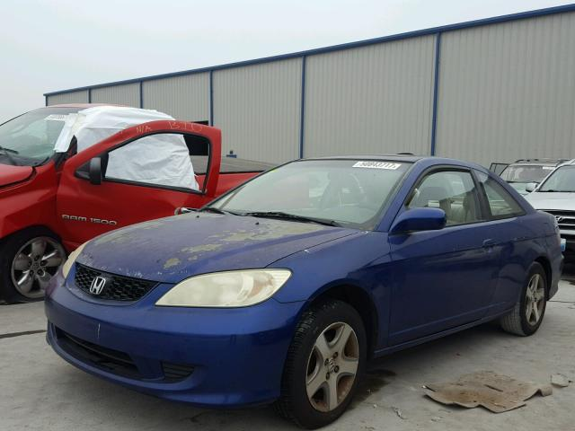 1HGEM22944L077560 - 2004 HONDA CIVIC EX BLUE photo 2