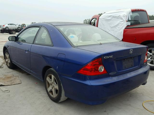 1HGEM22944L077560 - 2004 HONDA CIVIC EX BLUE photo 3