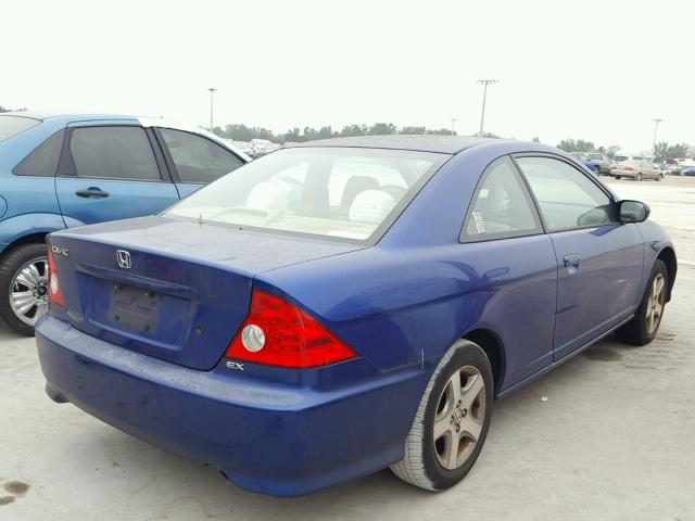 1HGEM22944L077560 - 2004 HONDA CIVIC EX BLUE photo 4