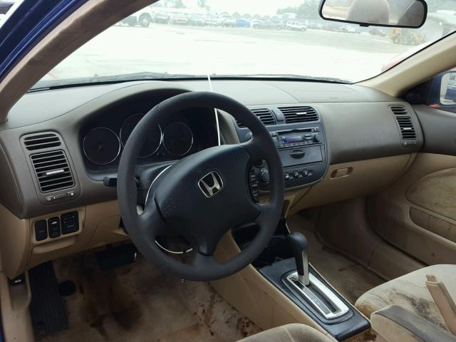 1HGEM22944L077560 - 2004 HONDA CIVIC EX BLUE photo 9