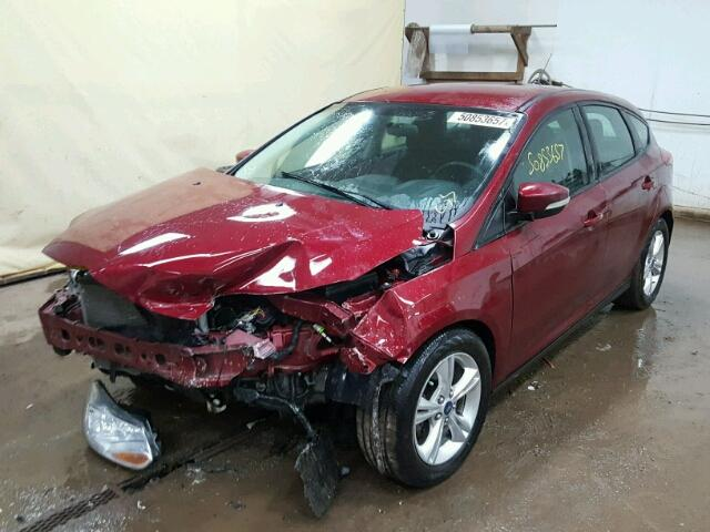 1FADP3K28EL275639 - 2014 FORD FOCUS SE RED photo 2