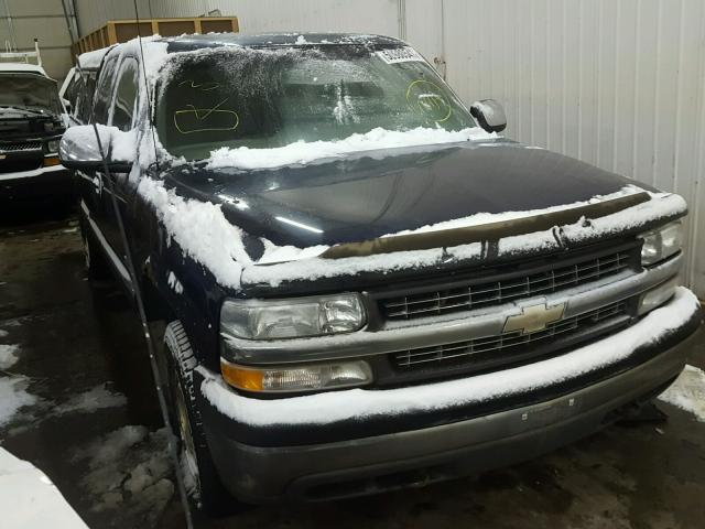 1GCEK19T71E135628 - 2001 CHEVROLET SILVERADO BLUE photo 1