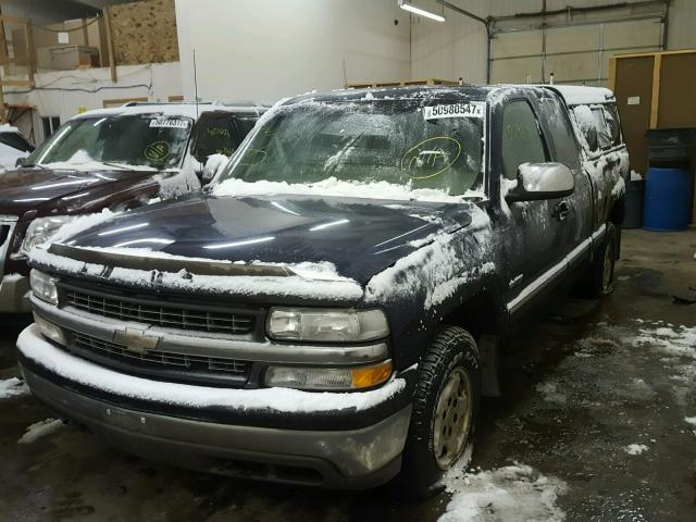 1GCEK19T71E135628 - 2001 CHEVROLET SILVERADO BLUE photo 2