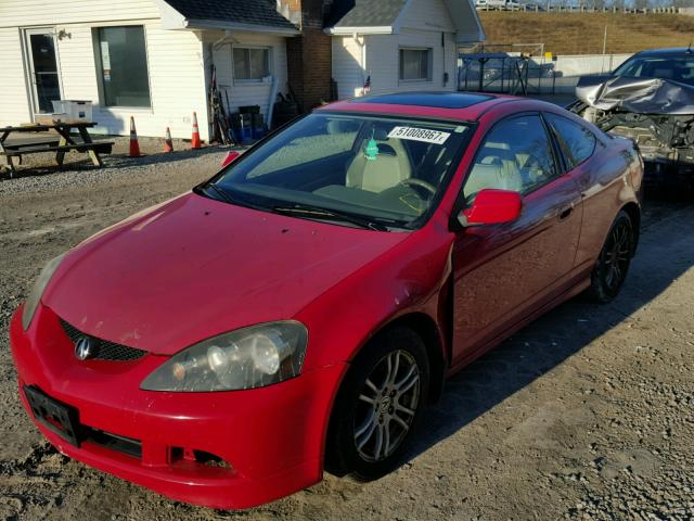 JH4DC54875S013229 - 2005 ACURA RSX RED photo 2