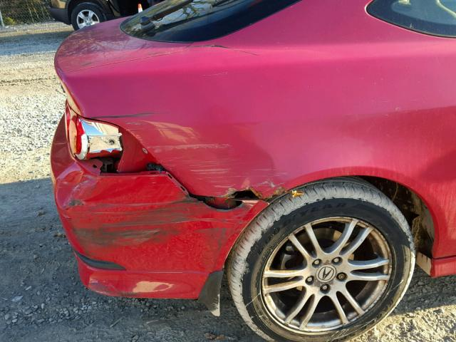JH4DC54875S013229 - 2005 ACURA RSX RED photo 9