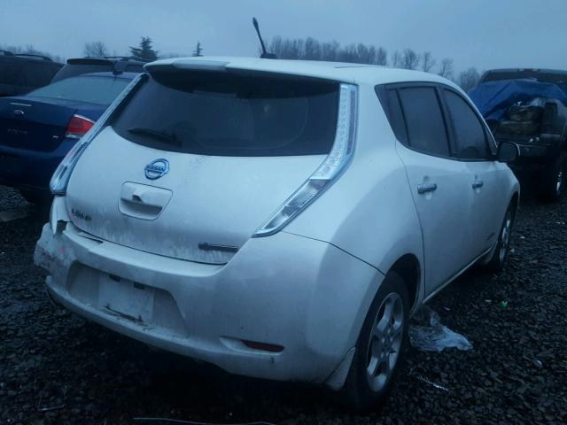 1n4az0cp6dc418978 2013 Nissan Leaf S White Price History